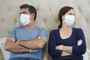 masked couple considering divorce