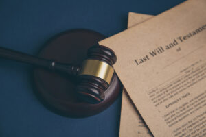 gavel with last will and testament papers probate tn