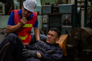 factory worker injured in the workplace files workers compensation