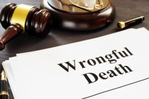 wrongful death claim with judge's gavel